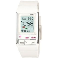 Casio Women's LDF52-7A White Resin Quartz Watch with Digital Dial: Casio: Amazon.ca: Watches