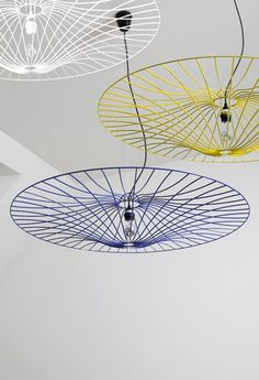 Steel pendant Llamp LES OMBRELLES by La Corbeille Editions | Design Jocelyn Deris