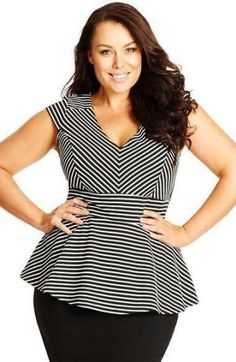 *Make Offer* City Chic Stripe Peplum Size 16 New with the tag. Super cute stripe v neck peplum City Chic Tops Plus Size Tips, Look Plus Size, Plus Size Fashion For Women, Plus Size Women, Plus Size Peplum, Plus Size Pencil Skirt, Triangle Body Shape, Plus Size Kleidung, Curvy Girl Fashion