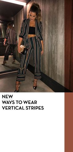 New ways to wear vertical stripes night out outfit classy, classy outfits, beautiful outfits Night Out Outfit Classy, Classy Outfits, Beautiful Outfits, Cute Outfits, Looks Cool, Looks Style, Fashion Outfits, Womens Fashion, Fashion Trends