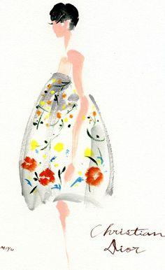 Dior / fashion illustration #sketch #art