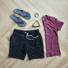 Navy Shorts - Men's Outfit Grid