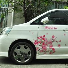 Cherry Blossom Car Decal I D Like Something Less Stiff And Goes
