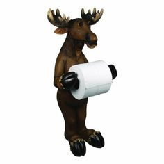 """Rivers Edge Products Moose Standing Toilet Paper Holder by River's Edge. Rivers Edge Products Moose Standing Toilet Paper Holder. 9"""" x 9"""" x 20.5""""."""