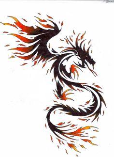 Red and Black Tribal Tattoos Dragon tattoo designs Red and Dragon Tattoo Art, Tribal Dragon Tattoos, Celtic Dragon Tattoos, Dragon Tattoos For Men, Dragon Artwork, Dragon Tattoo Designs, Red Tattoos, Love Tattoos, Body Art Tattoos