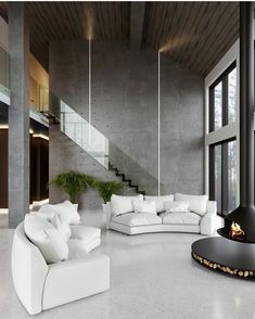[New] The 10 Best Home Decor (with Pictures) - House in The Woods designed by Bellas Artes Interior Design Studio. Visualized by Karasev Andrey. Interior Design Studio, Best Interior Design, Interior Design Living Room, Interior Modern, Studio Design, Room Interior, Loft Design, Design Bedroom, Design Design