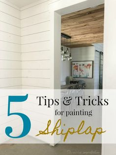 Everything I've Learned About Painting Shiplap – Mudroom White Plank Walls, Wood Plank Walls, White Shiplap, Stained Shiplap, Stained Trim, Painting Shiplap, Painting Tips, Painting Baseboards, Home Improvement Projects