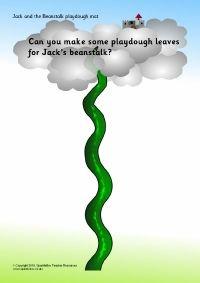 Jack and the Beanstalk playdough mats (SB1233) - SparkleBox