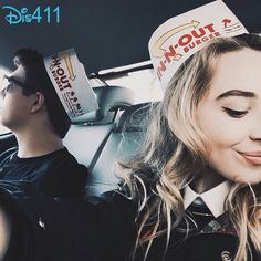 This was so weird! I went to In-N-Out Burger the day Sabrina posted this pic and I thought about her the whole time I was there!