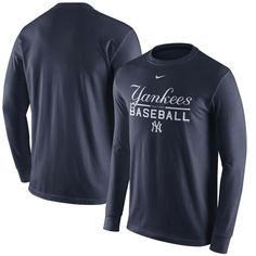 125dc8395 Men s New York Yankees Nike Navy Practice Long Sleeve T-Shirt