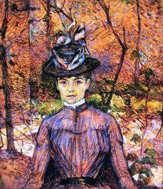 Henri De Toulouse-Lautrec | Henri de Toulouse-Lautrec - Portrait de Suzanne Valadon 1885 - Pictify ...