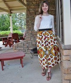 New Lidia Skirt/Holland wax/Full pleated skirt/ Wax by marinaasta