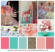 Impressionist Painting Palette – Indian Wedding Color Inspiration