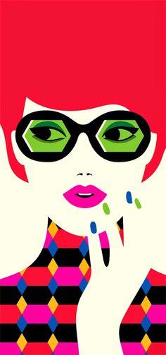 Colorful graphic illustrations by French Illustrator Malika Favre Malika Fabre, Pop Art Fashion, Hipster Wallpaper, Iphone Wallpaper, Pop Art Illustration, Graphic Illustrations, Mail Art, Belle Photo, New Art