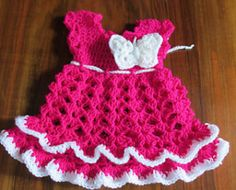 24 patterns in this Crochet Dress Roundup compiled by SimplyCollectibleCrochet.com | Butterfly Baby Dress - Andree Tunde