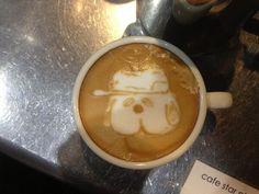 Olaf latte art