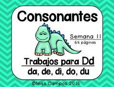 Fichas, trabajos y rompecabezas para la letra D y las sílabas da, de, di, do, du. 64 PAGINAS EN TOTAL!