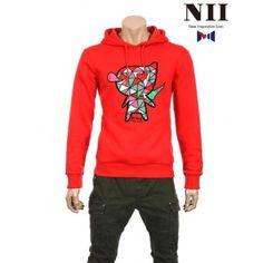 KPOP STYLEs:Kpop,Kdrama fashion webstore [Nii] Lovely Miniis heart Hoodie NNUALOW3911 Red KPOP STYLEs:Kpop,Kdrama fashion webstore