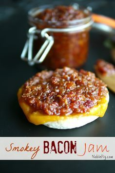 I love this smokey version of Bacon Jam. Melt cheese on top of an English muffin and spread it right on top, while topping the other side with an egg. Or just dollop a spoonful right on top of scrambled eggs, it's just as delicious either way.