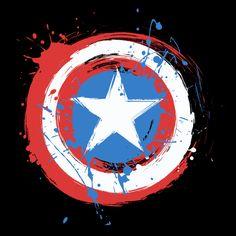 Captain America Birthday, Captain America Wallpaper, Captain America And Bucky, Marvel Wallpaper, Avengers Tattoo, Marvel Tattoos, Shield Tattoo, Marvel Paintings, American Paint