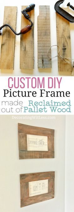 Easy diy picture frames learning board and easy custom diy picture frame made out of reclaimed pallet wood idea learn how to make solutioingenieria Image collections