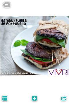 Antojo de hamburguesa???? Sustituye el pan por portobellos #vivritips @VIVRI GDL