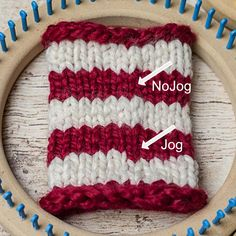 How to fix the jog when loom knitting in the round. This Moment is Good