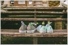 Husband and Wife Converse Wedding Shoes | Hattiesburg, MS Wedding at The Rootbeer Saloon | April + Paul Photography