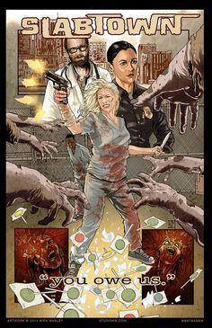 The TV Series Meets the Comic Books In The Walking Dead Fan Art