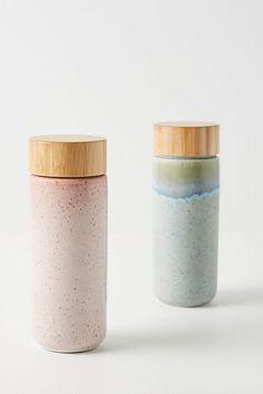 Anya Travel Mug by Anthropologie in Grey Size: Mug/cup