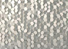 honeycomb, ceramic tiles by tokujin yoshioka