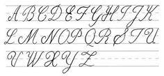 Image result for cursive alphabet