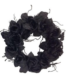 Make your home Halloween-ready with decorative accessories like the Makers Halloween Black Rose Wreath. Covered with large black roses all over, this Halloween wreath makes a versatile choice to decor