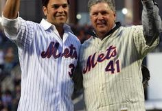 Mike Piazza and Tom Seaver