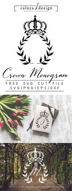 30 Ideas For Diy Wedding Cricut Silhouette Cameo Free Monogram, Monogram Fonts, Monogram Letters, Monograms, Wood Letters, Circle Monogram, Lettering Tutorial, Hand Lettering, Lettering Styles