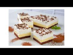 Krémový šlehačkový řez / Helenčino pečení - YouTube Tiramisu, Cheesecake, Ethnic Recipes, Desserts, Food, Youtube, Tailgate Desserts, Deserts, Cheesecakes