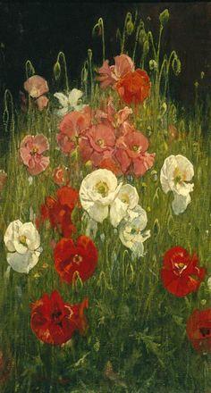 huariqueje:  Poppies  -  Jacobus van Looy Dutch 1855-1930 Photography: Gert Jan van Rooij     Beautiful Poppies