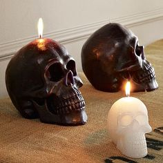 Nothing says romance quite like a room full of skulls on fire.