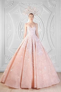Pink Rami Kadi wedding dress // Pinned by Dauphine Magazine x Castlefield - Curated by Castlefield Bridal & Branding Atelier and delivering the ultimate experience for the haute couture connoisseur! Dauphine Magazine (luxury bridal and fashion crossover): www.dauphinemagazine.com, @dauphinemagazine on Instagram, and @dauphinemag on Pinterest • Visit Castlefield: www.castlefield.co and @ castlefieldco on Instagram / Luxury, fashion, weddings, bridal, style, art, design, jewelry, beauty