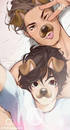 """Manga yaoi"" - The boy and the wolf - Wattpad Couple Poses Drawing, Cute Couple Drawings, Couple Sketch, Funny Drawings, Drawing Poses, Anime Cosplay, Wolf Boy Anime, Gay Lindo, Romantic Drawing"