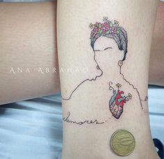 Tattoo artist : Ana Abrahao Frida Kahlo