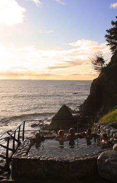 Big Sur Hot Springs--the hot springs at Esalen Institute @Karen Jacot Adolf my friend sent this to