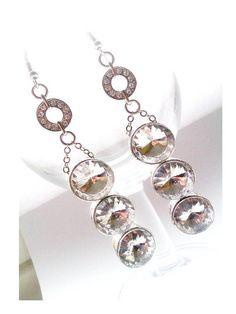 Swarovski Crystal Chandelier Drop Earrings - £35.00