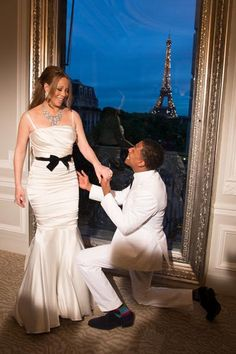 Mariah Carey y Nick Cannon renuevan sus votos matrimoniales en París #celebrities #singers #people #cantantes
