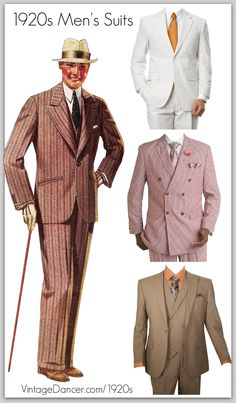 1920s style men's suits for sale at VintageDancer.com/1920s
