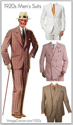 1920s style men's suits for sale at VintageDancer.com/1920s