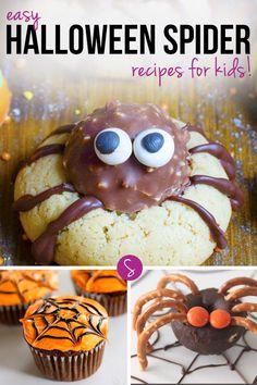Easy Halloween Spider Recipes for Kids: These spooky spider recipes are perfect for a kid's party, Halloween or even a play date!