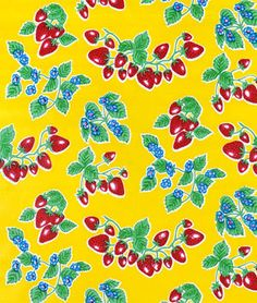"""Yellow Forever Oilcloth Fabric  """"Forever"""" yellow.  $6.05/yd at onlinefabricstore.net"""