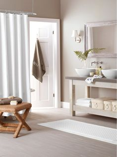 Shop for exclusive Garnet Hill bath decor. Our quality bath decor includes bath towels, bath mats, bath rugs, and shower curtains in delightful colors. Bathroom Spa, Bathroom Interior, Bathroom Ideas, Romantic Room, Romantic Ideas, Luxury Spa, Contemporary Bathrooms, Bath Decor, Bath Design