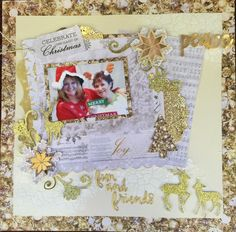 Celebrate the Season with Glisten Christmas Layout, Christmas Wishes, Xmas, Scrapbook Page Layouts, Scrapbook Pages, Hello Everyone, Scrapbooks, Mini Albums, Merry